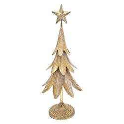 Stromek List zlatý, 17x17x47 cm, kov