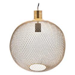 Lustr Plet zlatá koule, 16x16x22 cm, kov