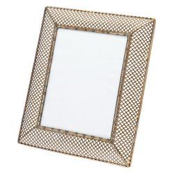 Fotorámeček tepaný mosazný v síťi, 2x23x28 cm, kov