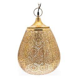 Lustr Hizo zlatý s plným vrchem, 30x30x42 cm, kov