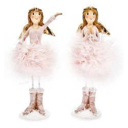 Anděl Balet růžový v kozačkách, 2 dr., 7x5x16 cm,
