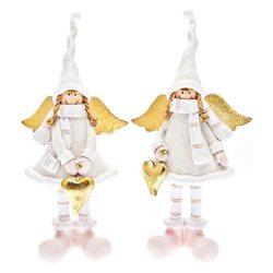 Anděl s vysokou čepicí, 2 dr., 10x5x18 cm, polyres