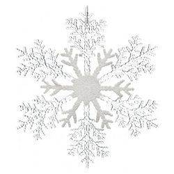 Vánoční ozdoba vločka dělená, 20x20x0,5 cm, plast