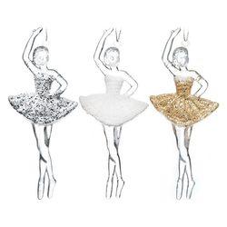 Ozdoba Akryl baletka, 3 barvy, 1x6x13 cm, plast