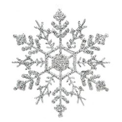 Ozdoba Akrylvločka stříbrná, set 4 ks.,0,5x13x13 c