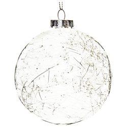 Baňka koule s vlákny, 10 cm, sklo