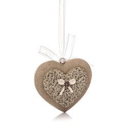 Srdce s mašličkou z polyresinu, 7 cm