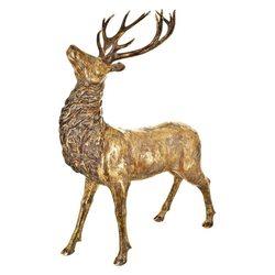 Jelen zlatý, 18x43x67 cm, polyresin