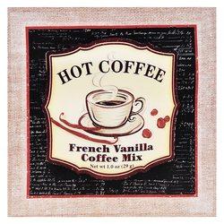 Obrázek Coffee s lusky, 2x38x38 cm, textil