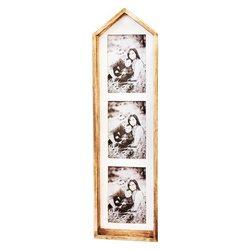 Fotorámeček Domek vysoký, 14x5x55 cm, dřevo, sklo