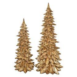 Stromek zlatý, 23x23x54 cm, polyresin