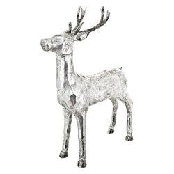 Jelen stříbrný, 16x48x73 cm, polyresin