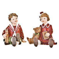 Děti Retro sedící, 2 dr., 11x8x10 cm, polyresin