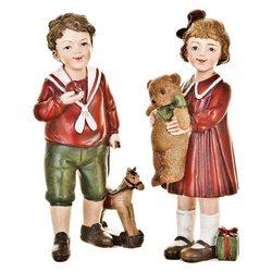 Děti Retro stojící, 2 dr.,  8x5x15 cm, polyresin