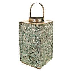 Lucerna Orient hranatá, 18x18x31 cm, kov