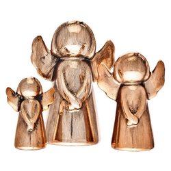 Anděl Topi bronzový, velký, 5x8x12 cm, keramika