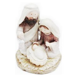 Josef s Marií na slámě, 7x8x9 cm, polyresin