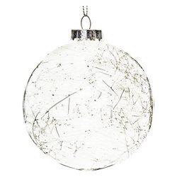 Baňka koule s vlákny, 15 cm, sklo