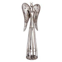 Anděl Patin svícen, 34x22x100 cm, kov