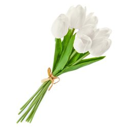 Tulipán bílý, 8 ks, plast