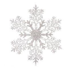 Vánoční ozdoba vločka dělená, čirá 30x30x0,5 cm, p