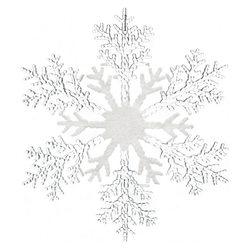 Ozdoba Akryl vločka bílo-čirá, 0.5x32x32 cm, plast