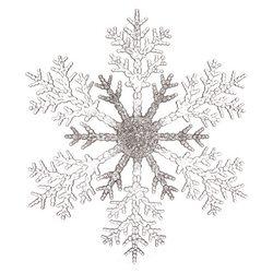 Ozdoba Akryl vločka stříbro-čirá, 0.5x20x20 cm, pl