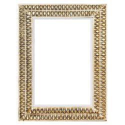 Zrcadlo hranaté, zlatý rám dvě řady, 63x4.5x83 cm,