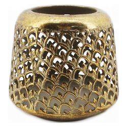 Lucerna zlatá vzor šupiny, malá, 13cm, kov