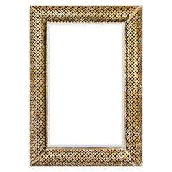 Zrcadlo hranaté, zlatý mřížkovaný rám, 70x5,5x100