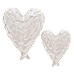 Srdíčko ve tvaru anděl. křídel perleťově bílé, mal