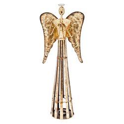 Anděl Patin zlatý, 29x14x80 cm, kov