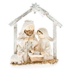 Betlém Josef a Marie, s jednou ovečkou, 11,5 cm, p