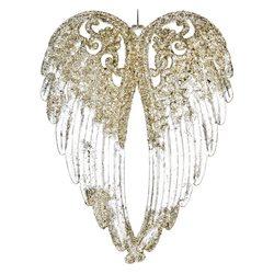 Ozdoba akrylová křídla, zlatá, 14cm