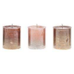 Svíčka s třpytkami, metalické, malá
