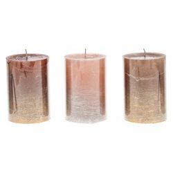 Svíčka s třpytkami, metalické, střední