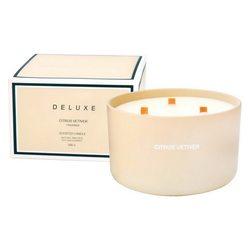 Vonná svíčka v krabiččce, velká, Citrus Vetiver