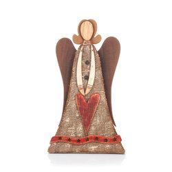 Dřevěný anděl stojící 38 cm