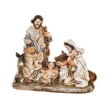 Betlém Juta, Josef a Marie se zvířaty, 6x12x11 cm,
