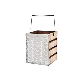 Lucerna Kvítí, 12x11x26 cm, dřevo