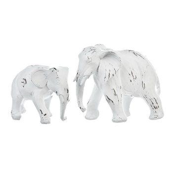 Slon bílý stojící, 13x6x10 cm, polyresin