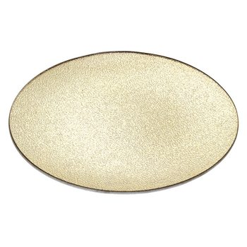 Tác zlatý, 26x26x5 cm, sklo