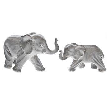 Slon velký šedý, 10x20x13 cm, keramika jako beton