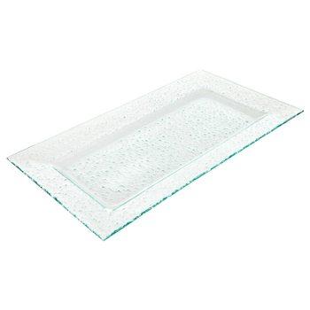 Talíř čirý, 44x24x3 cm, sklo