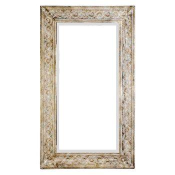 Zrcadlo s tepaným rámem, 5x106x62 cm, kov, sklo